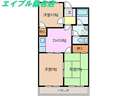 グレイスタウンMIWA A棟[3階]の間取り