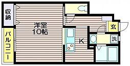 ラ・カシェット[1階]の間取り