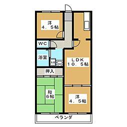 シャンポール鴻の巣[6階]の間取り