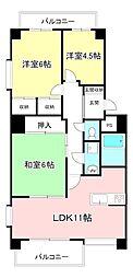 パークハイム金沢[4階]の間取り