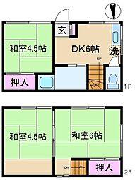 [一戸建] 東京都北区上十条5丁目 の賃貸【/】の間取り