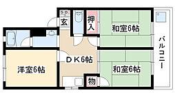 愛知県名古屋市南区芝町の賃貸マンションの間取り