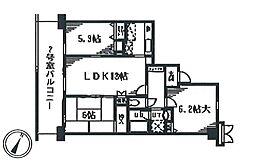 SalledeVerdure(セルデベルデュール)[2階]の間取り