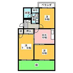 ソフィアガーデン[1階]の間取り