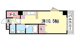 サムティ神戸駅南通[911号室]の間取り