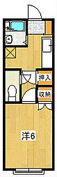 VILLA SUZUKI[103号室]の間取り
