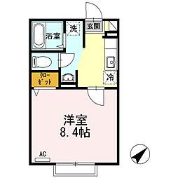 センターロード B棟[2階]の間取り