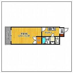 セラフィン西新南[4階]の間取り
