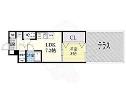 Orientem 1階1LDKの間取り