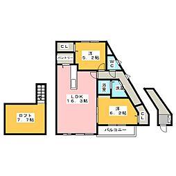 ADORABLE[2階]の間取り
