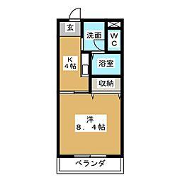 サンシャインガーデンA[3階]の間取り