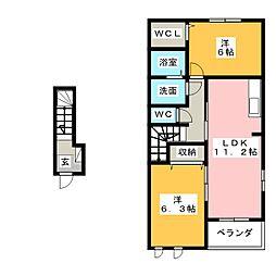 メゾン・オーブD[2階]の間取り