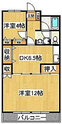 第2森田マンション[104号室]の間取り