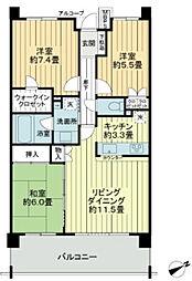 レクセルガーデン高根台壱番館[2階]の間取り