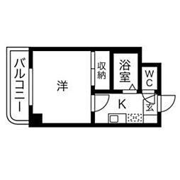 サンハイツオオイケ[207号室]の間取り
