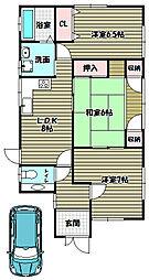[一戸建] 大阪府大阪狭山市西山台3丁目 の賃貸【/】の間取り
