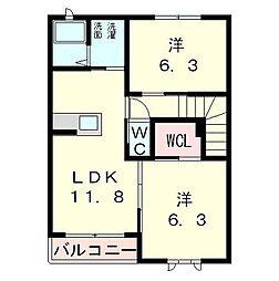 エイトタウン475[2階]の間取り