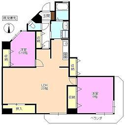 長野県松本市白板1丁目の賃貸マンションの間取り