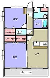 三門マンション[301号室]の間取り