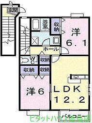 デュエルミサキIII[A201号室]の間取り