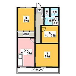 フィレンツェ春日井[4階]の間取り