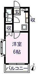 レインボー元井[302号室]の間取り
