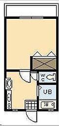 清水コーポ[101号室]の間取り