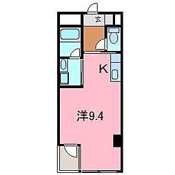 シャトーヨサミ[414号室]の間取り