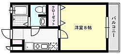 ビームII[101号室]の間取り