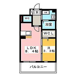 エンクレスト博多駅東II[2階]の間取り
