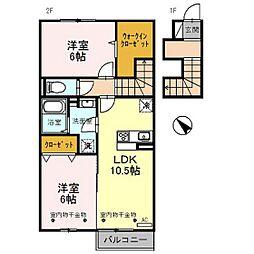 D-room射水市片口[2階]の間取り