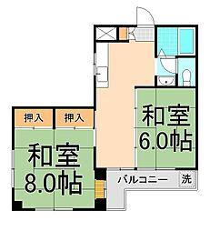 第二テルコマンション[104号室]の間取り