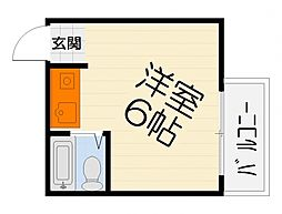 大阪府堺市西区鳳中町8丁の賃貸マンションの間取り