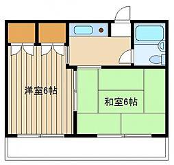 東京都練馬区石神井台3の賃貸マンションの間取り