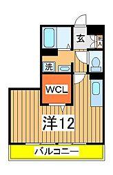 ウェルズ[3階]の間取り