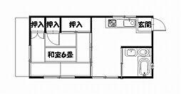 佐々木アパート[2F号室]の間取り
