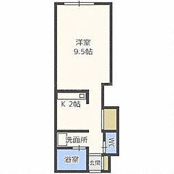 ビッグバーンズマンションN32E[2階]の間取り