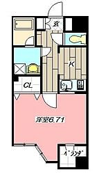 アドバンスM-1[7階]の間取り