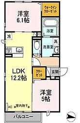 仮)D-room円行2丁目[3階]の間取り