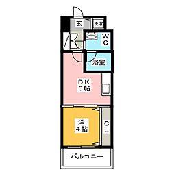 レジデンス箱崎[3階]の間取り