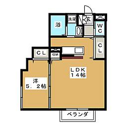 サニープレイス北山II[2階]の間取り