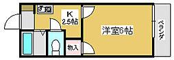 兵庫県加古川市平岡町新在家の賃貸アパートの間取り