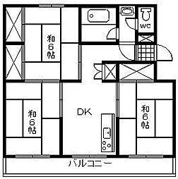 富士コーポ[205号室]の間取り