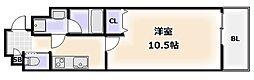 Osaka Metro堺筋線 恵美須町駅 徒歩3分の賃貸マンション 4階1Kの間取り