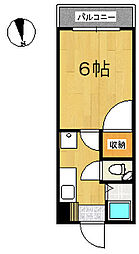 エクセランス・ド・花京院[111号室]の間取り