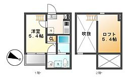 drei(ドライ)[2階]の間取り