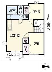 カーサデュオ A棟[2階]の間取り