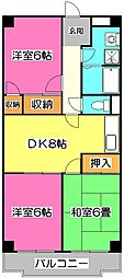 サンライズマンション[3階]の間取り