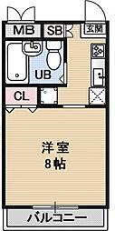 ルシェルブール[201号室号室]の間取り