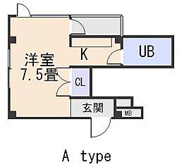 メゾンドゥクリヨン[3階]の間取り